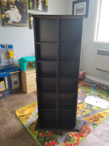 Double DVD/Blu-ray/CD/VHS cabinet