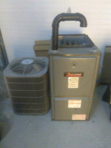 Amana high-efficiency furnace and the carrier hig two and a half