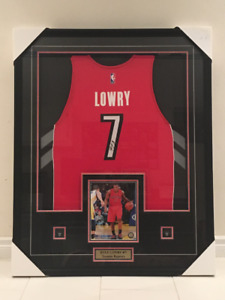 $800. Framed Autographed  Kyle Lowry Jersey