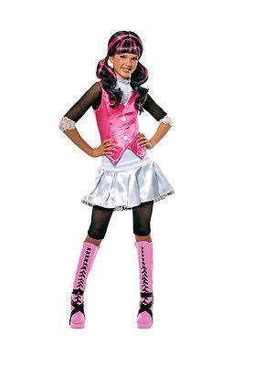 Girls Draculaura Monster High School Fancy Dress Halloween Costume Kids Outfit ()