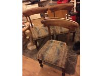 3 Original Antique chairs