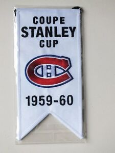 CENTENNIAL STANLEY CUP 1959-60 BANNER MONTREAL CANADIENS HABS