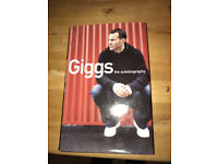 Autographed hardback copy of book - Giggs the autobiography