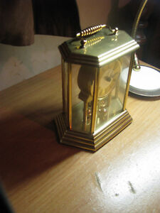 Anniversary Mantel Brass Clock by Birks made in Germany