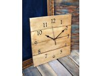 Reclaimed pallet wood shabby chic clock hand made
