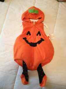 Carter brand pumpkin costume , size 12 months. New with tags