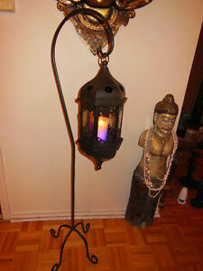 Lantern (Gothic) with stand great for indoor or outdoor patio.