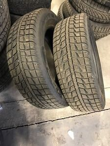 Two used 225/60/17 winter tires