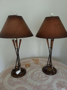 Wonderful Pair of Golf Lamps