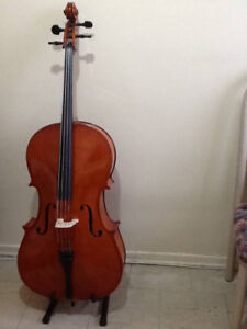 Cello 4/4 - 2 New Hard Cases, 1 New Soft Case, 3 New Bows