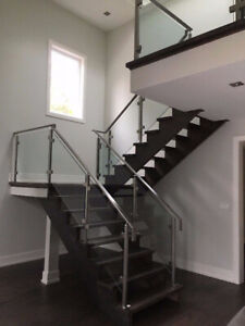 10mm Tempered Glass Entrance Door & Stairs & Mirror