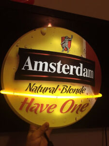 BEER SIGN COLLECTIBLE AMSTERDAM BLOND