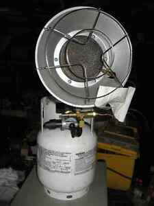 Radiant heater with propane tank