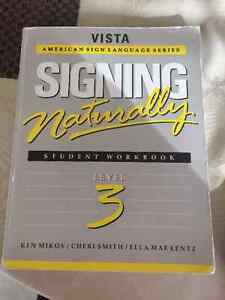 Sign Language Book - signing naturally level 3