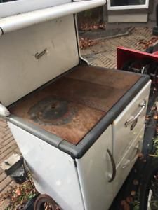 Amazing old enamel gas stove for trade
