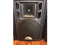 2 x W AUDIO PSR12 PASSIVE SPEAKERS