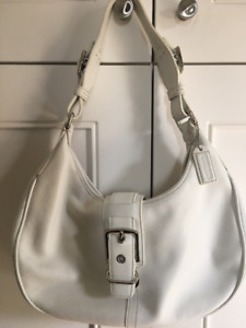 COACH WHITE LEATHER AUTHENTIC BAG