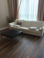 Laminate and engineered floor installation. Condo full service