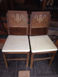 two vintage art deco chairs