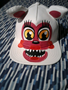 NEW FOXY ..Five Nights At Freddy's white leather snapback hat