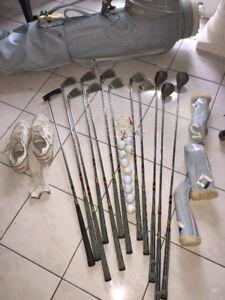 Excel. Ladies RH PowerBilt Grand Slam Golf Clubs w/ Bag & Cart