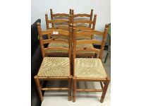 6 pine kitchen chairs