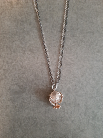 Dower and Hall silver and gold flower necklace