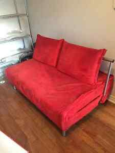 RED Sofabed, can be extended as a  double size bed
