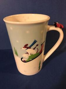 Starbucks Christmas Holiday Winter Airplane Dog Sled Mug