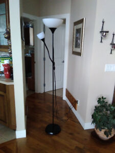 Pole Lamp with Reading Light