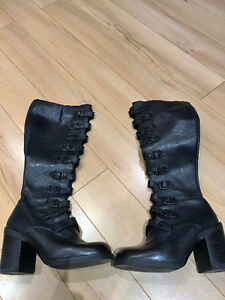 Black Leather Boots (from Aldo) - size 6