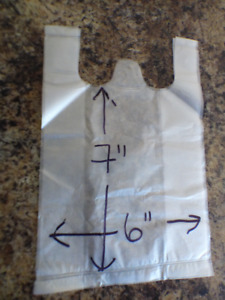T-Shirt Bags - good for small dog poop bags