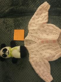 New baby girls new handknit cardigan