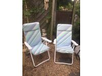 Retro padded garden chairs camping chairs picnic chairs reclining chairs camper motorhome vw