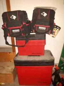Blue point tool boxes and husky electrical bags