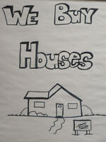 WE PAY CASH FOR HOUSES!