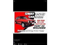 SWAY Road CAR SALES £200 screen price Halloween sale