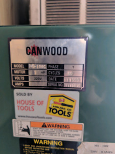 Canwood 220V, 1hp Meat saw