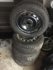 4x  205/55/R16 Winter Tires GOFORM W705 and rims