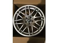 "Set of 19"" silver DTM Alloy Wheels BMW ."