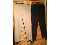 2x M&S Slim Leg Trousers Size 12