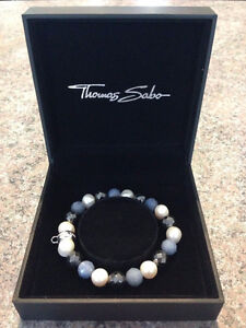 Charm Bracelet 925 Sterling Club Silver Blue Thomas Sabo