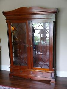 Mahogany and Glass Display/Library Case