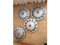Vauxhall cavalier Sri wheel trims (4x100,alloys,wheels,nova,Astra,Corsa,)
