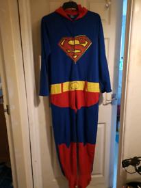 Men's superman onesie.