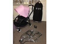Bugaboo bee 3 limited edition black frame pink hood SWAPS