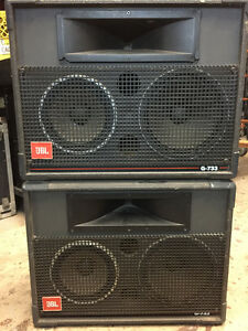 Used Condition JBL G-733 3 Way Full Range Speakers