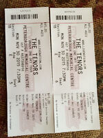 Tickets to the Tenor's