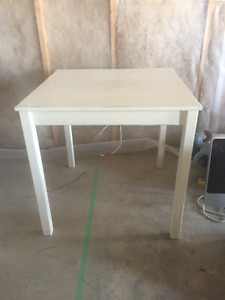 Two Solid Pine Cream Table