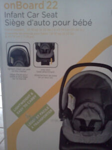 OnBoard 22 infant car seat, gently used for 2 times